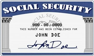 Picture of John Doe Social Security Card